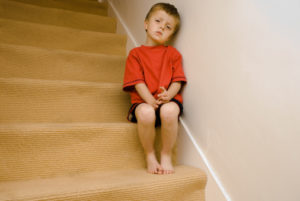 A child coping with divorce