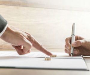 Signing separation agreement